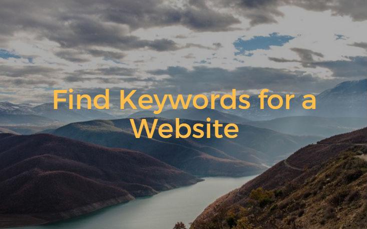 Find Keywords for a Website