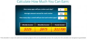 appcoiner how much earn