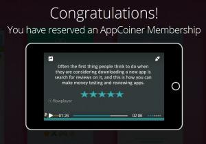 appcoiner congratulations