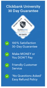 clickbank University 2.0 - guarantee
