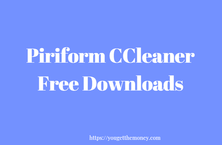 piriform ccleaner free download for mac